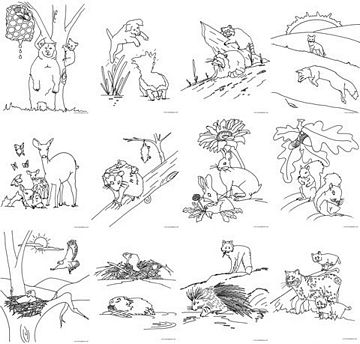woodland animals coloring book 4 best images of forest animals printable printable