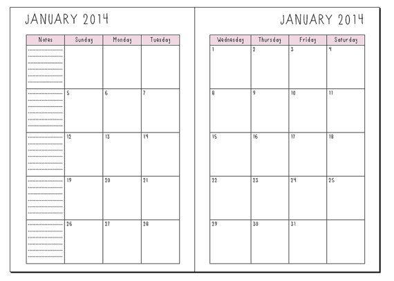Calendar Planner Refills : Best images of cute printables filofax free