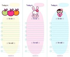 Free Cute Printable to Do List Template