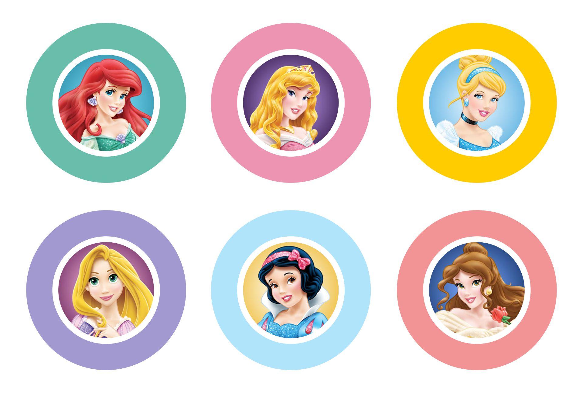 Disney Princess Cake Pop Printables