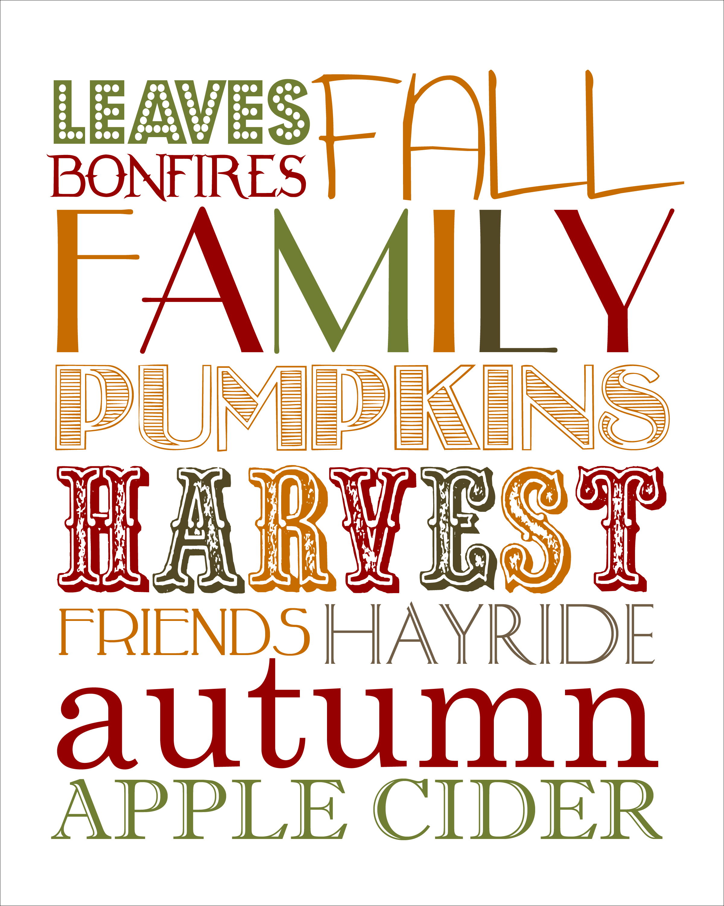 8 Images of Fall Printable Art