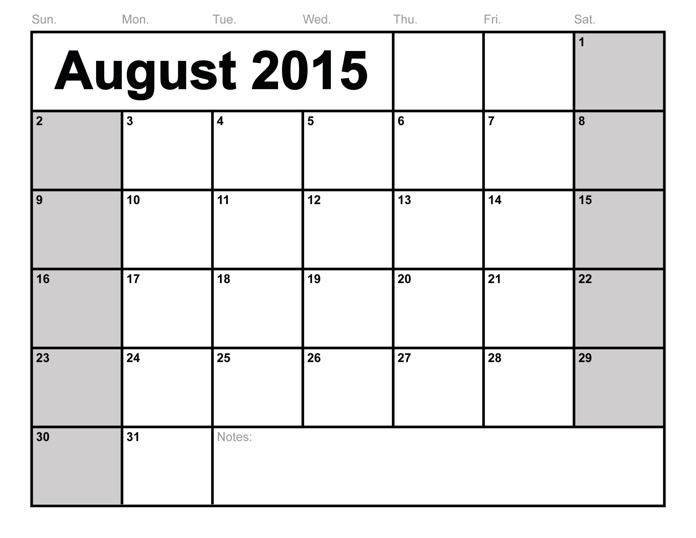 6 best images of free printable 2015 monthly calendars 8 x 11 august august 2015 calendar. Black Bedroom Furniture Sets. Home Design Ideas
