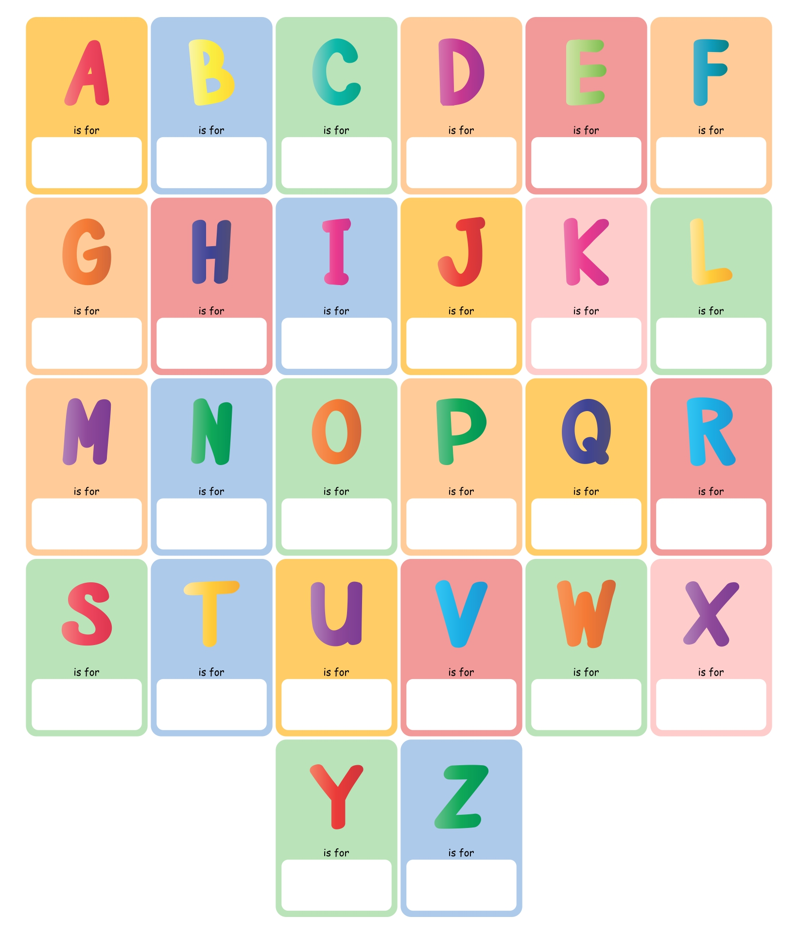 Printable ABC Book Template