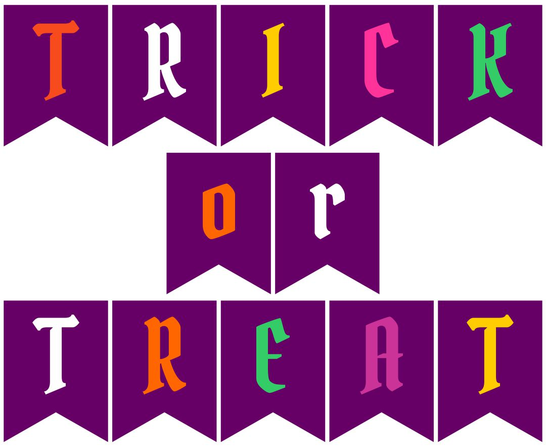 Printable Banner Trick or Treat
