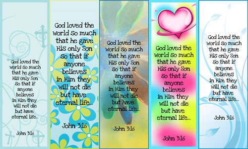 7 Images of Printable Bible Bookmarks