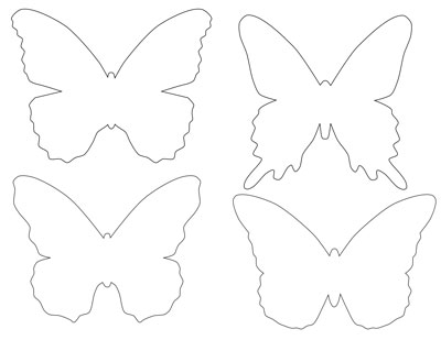 6 Images of Free Printable 3D Butterfly Template