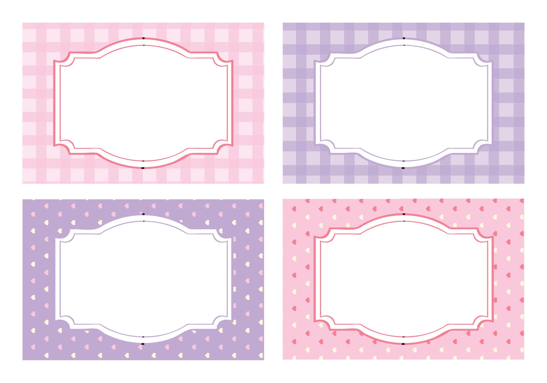 Printable Candy Buffet Labels Template