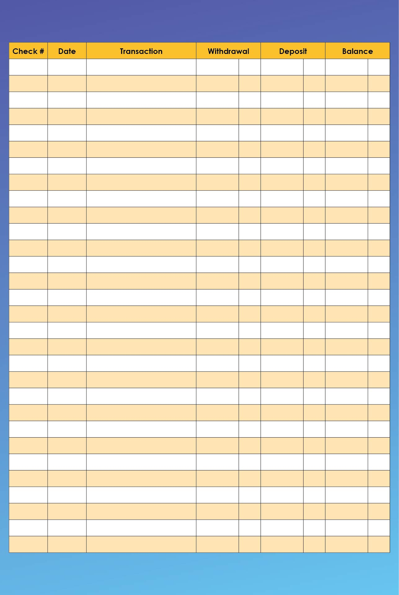8 Images of Free Printable Check Registers For Checkbooks