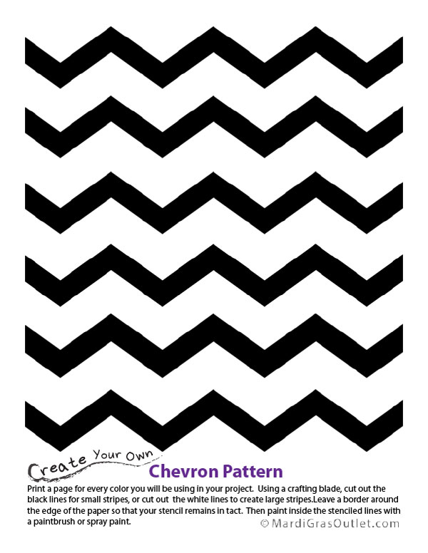 8 Images of Printable Chevron Pattern Stencil