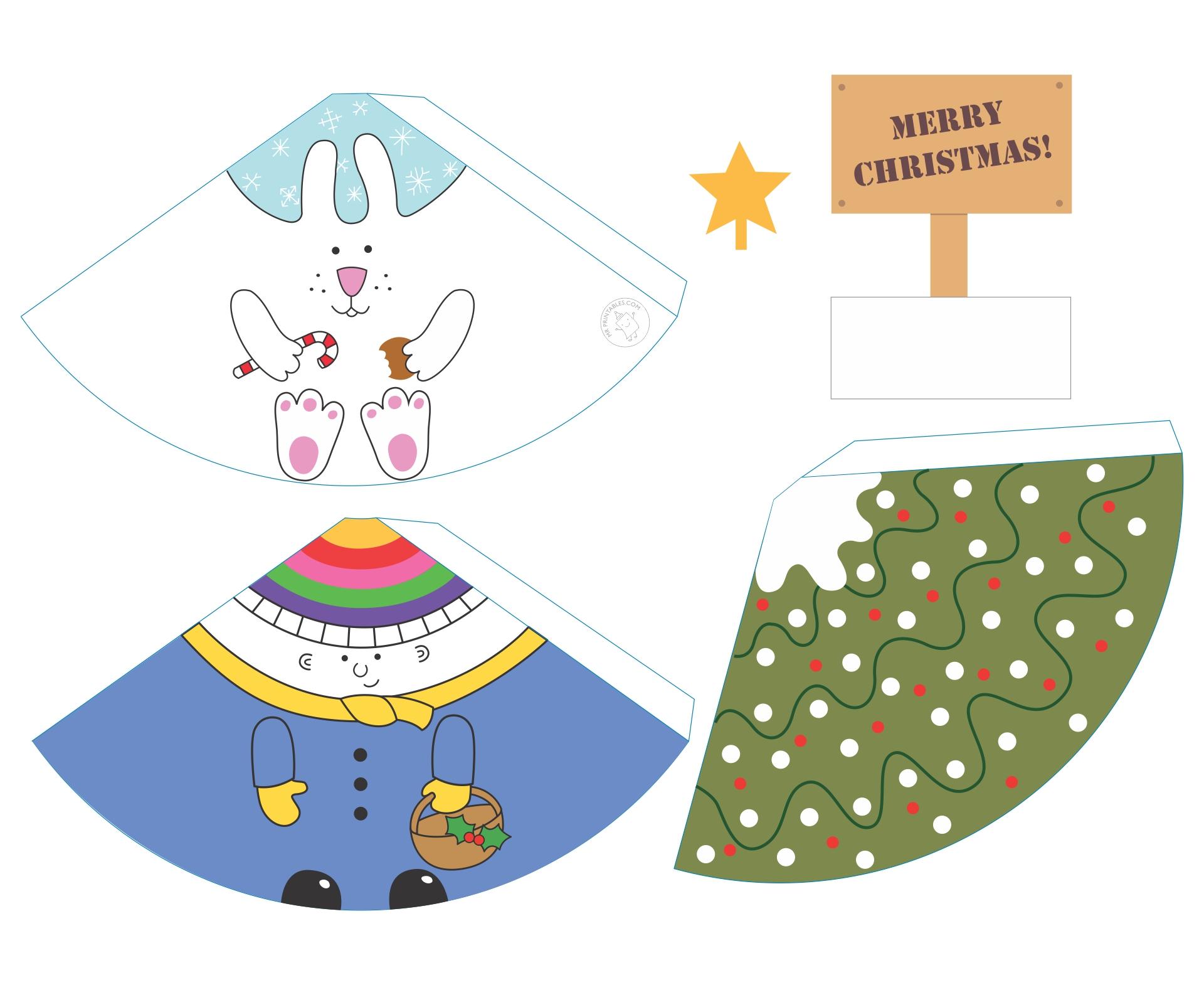 Printable Christmas Craft Pages