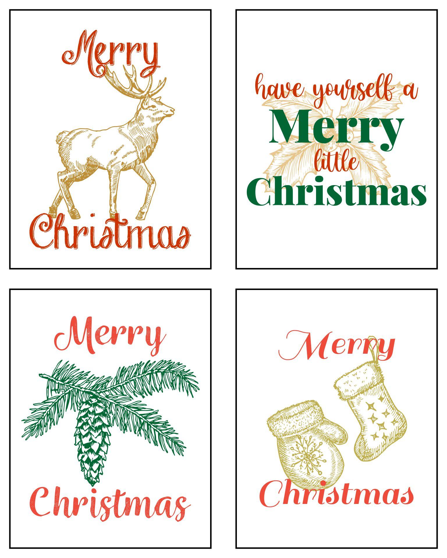 Printable Christmas Signs