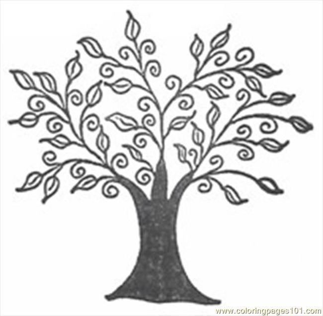 6 Images of Free Tree Printable Coloring Pages
