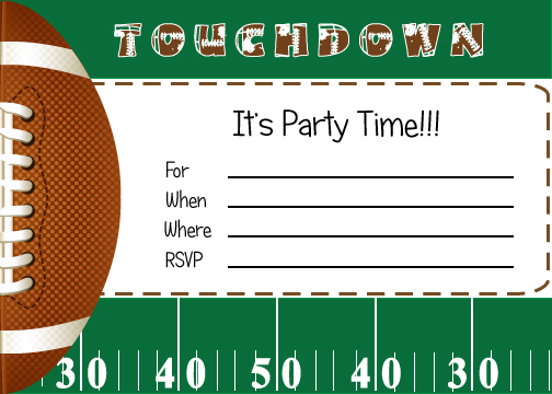 9 Images of Football Birthday Party Invitations Free Printables