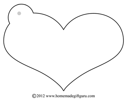 6 Images of Printable Heart Gift Tag Templates
