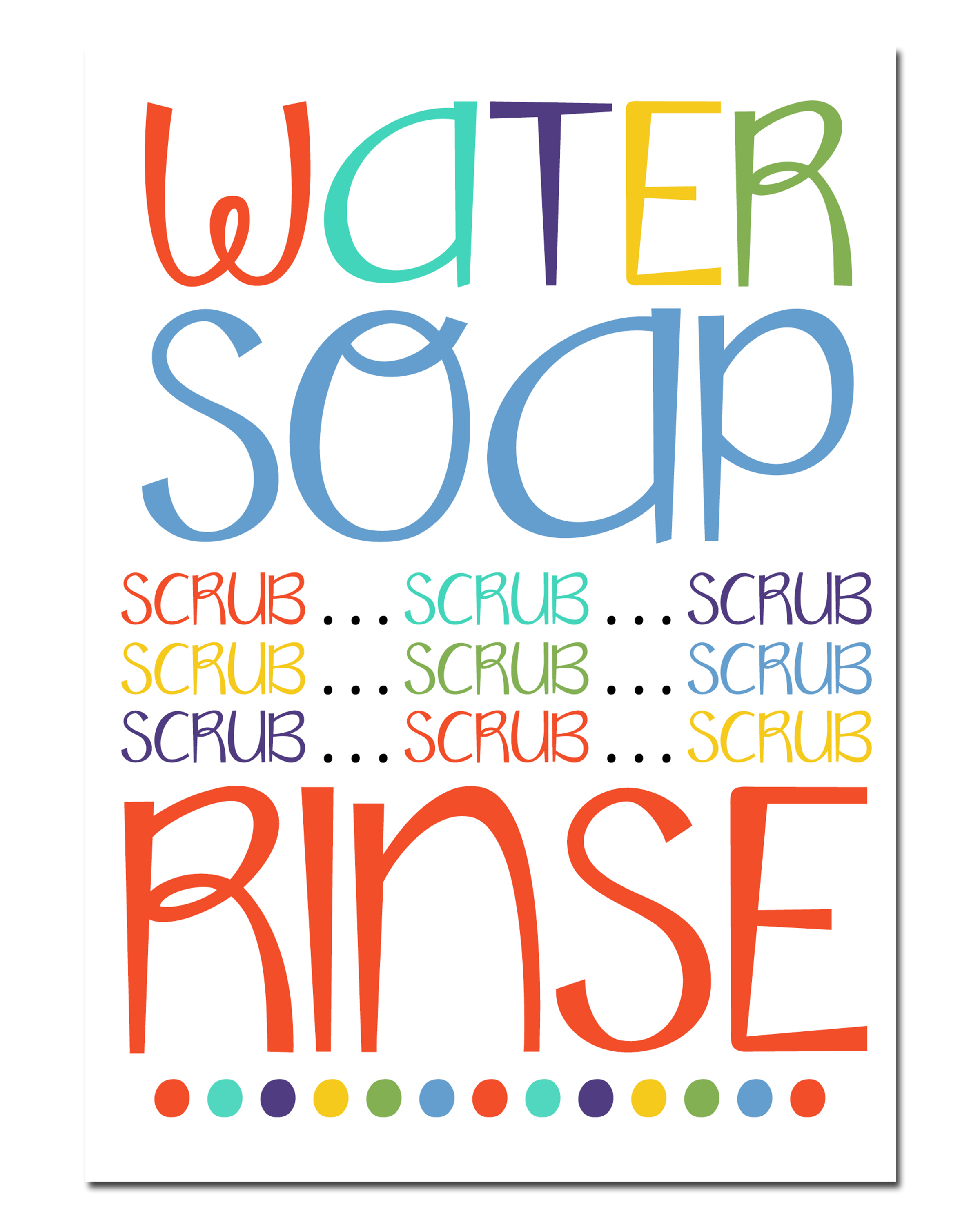 Bathroom wall art printables - Free Printable Hand Washing Clip Art