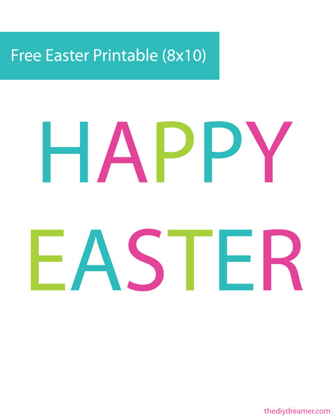 7 Images of Printable Happy Easter Signs