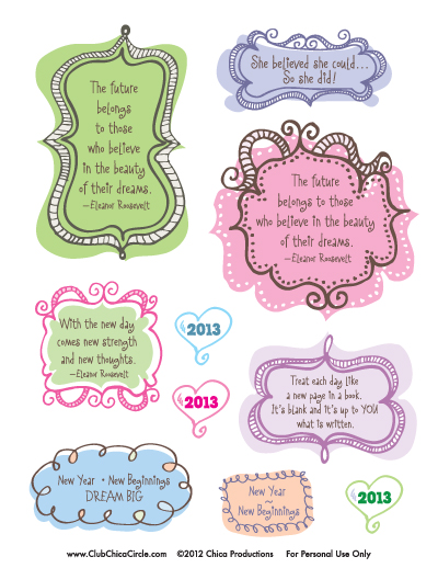 Free Printable Journal Stickers