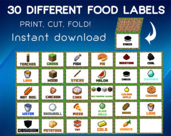 7 Best Images of Free Printable Food Labels Lava Minecraft ...