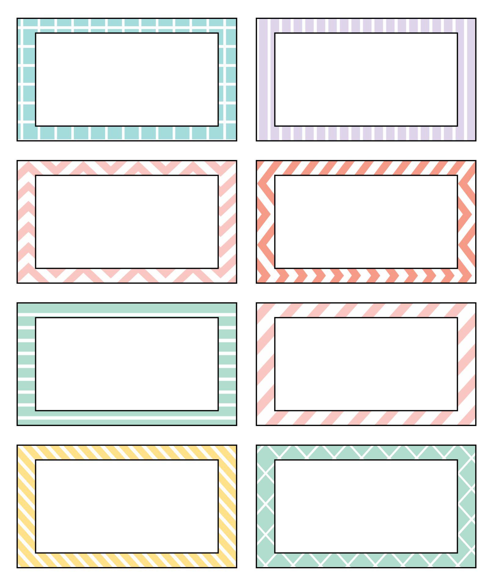 Printable Name Plate Templates