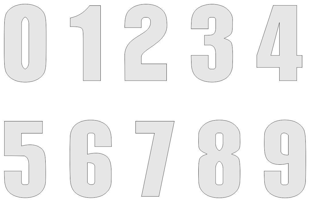 7 best images of printable number 2 free printable for Free number templates to print