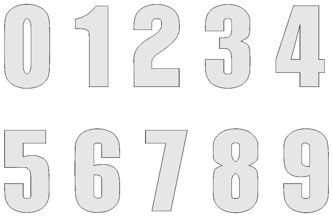 Printable Numbers 0 9