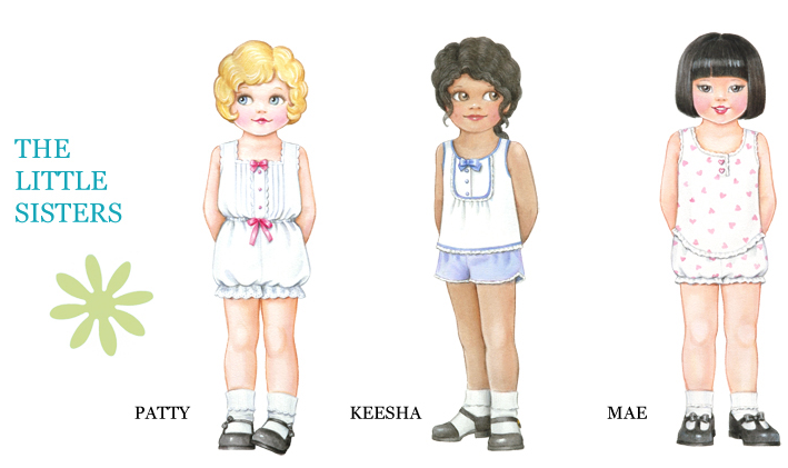 5 Images of Ethnic Paper Dolls Printable