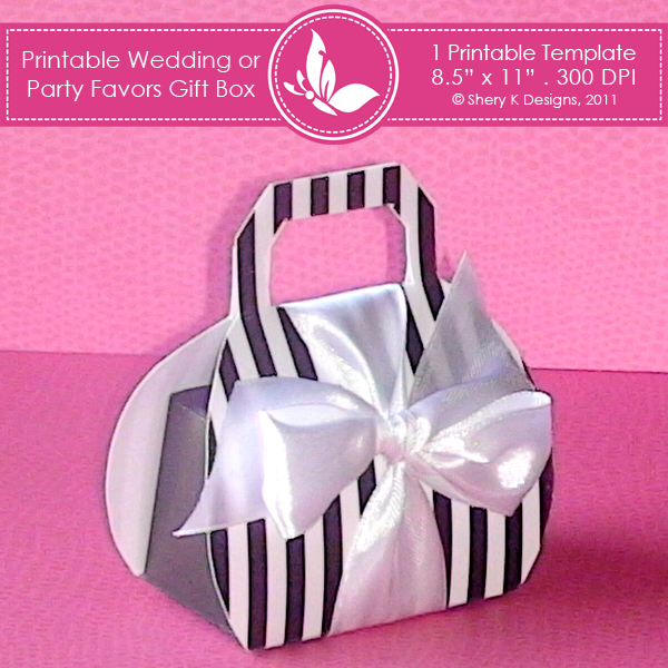 Wedding Templates FavorFree Printable Favor Boxes Templates, Free ...