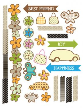 Free Printable Scrapbook Stickers