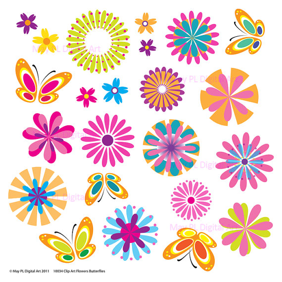 Free Printable Spring Flowers Clip Art