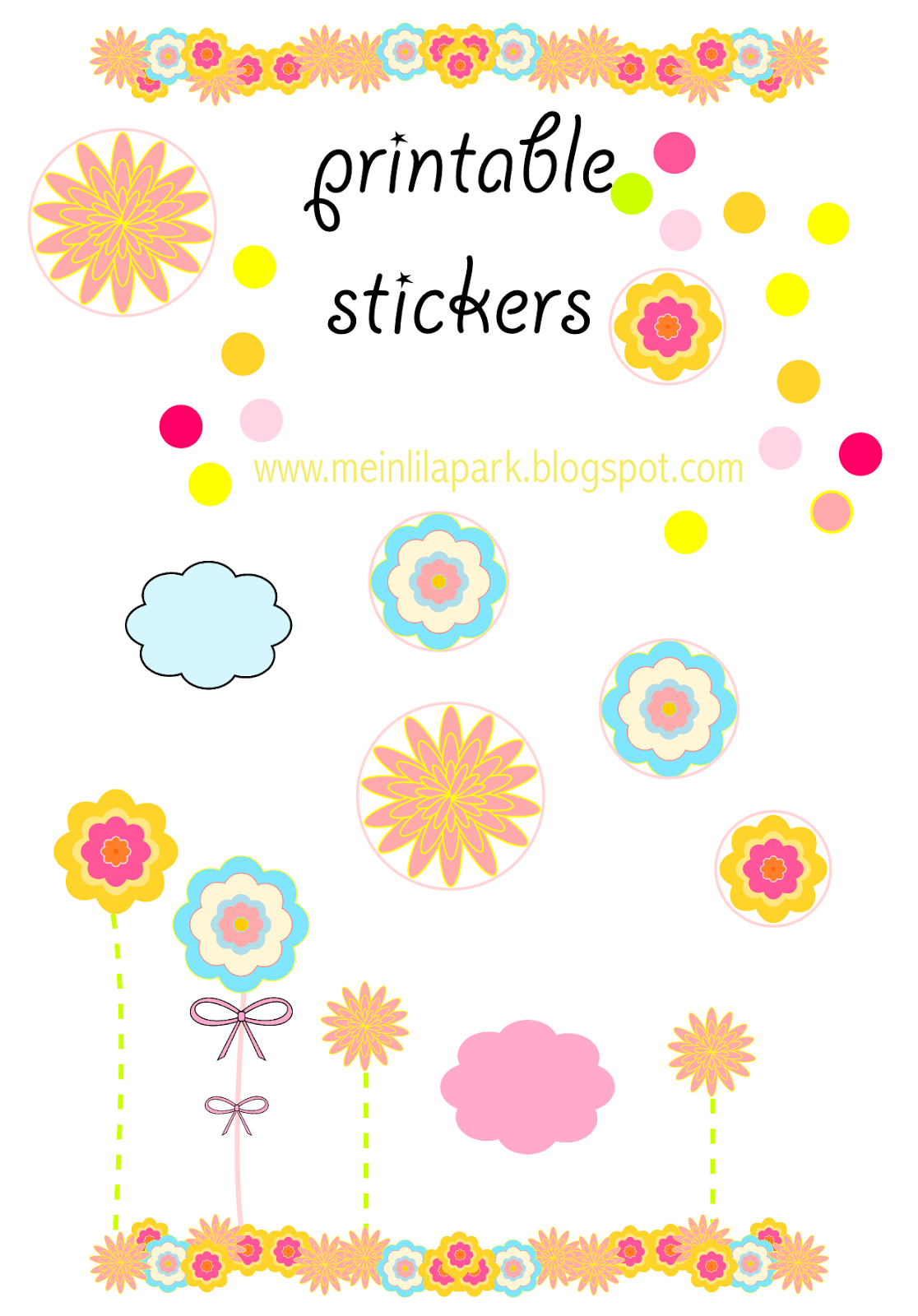 Free Printable Sticker Templates