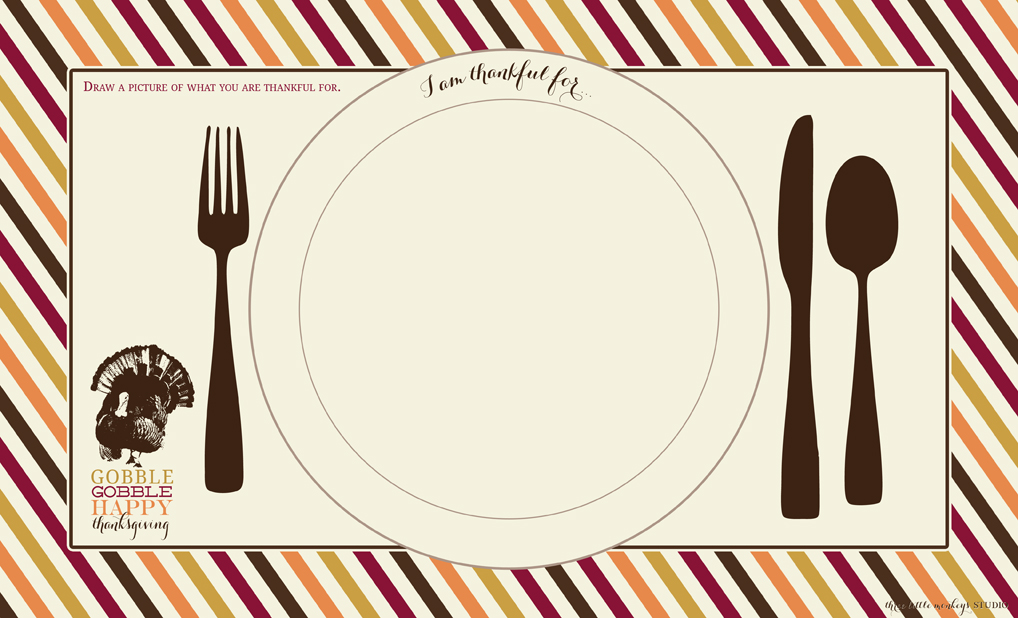 printable turkey placemats thanksgiving turkey placemat craft free