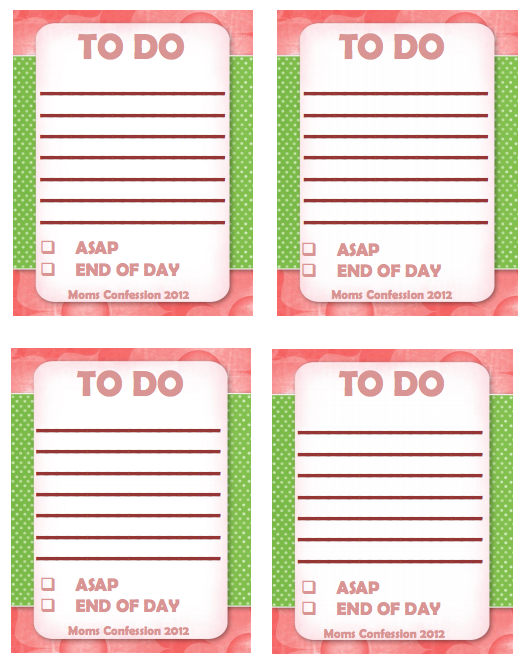 Free Printable to Do to Get Organized List