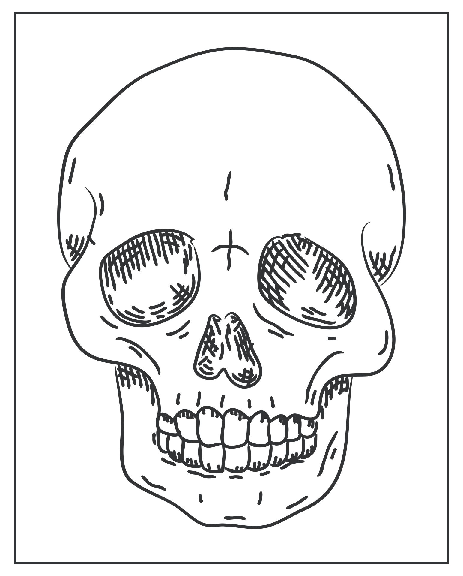 7 Images of Skull Halloween Printables