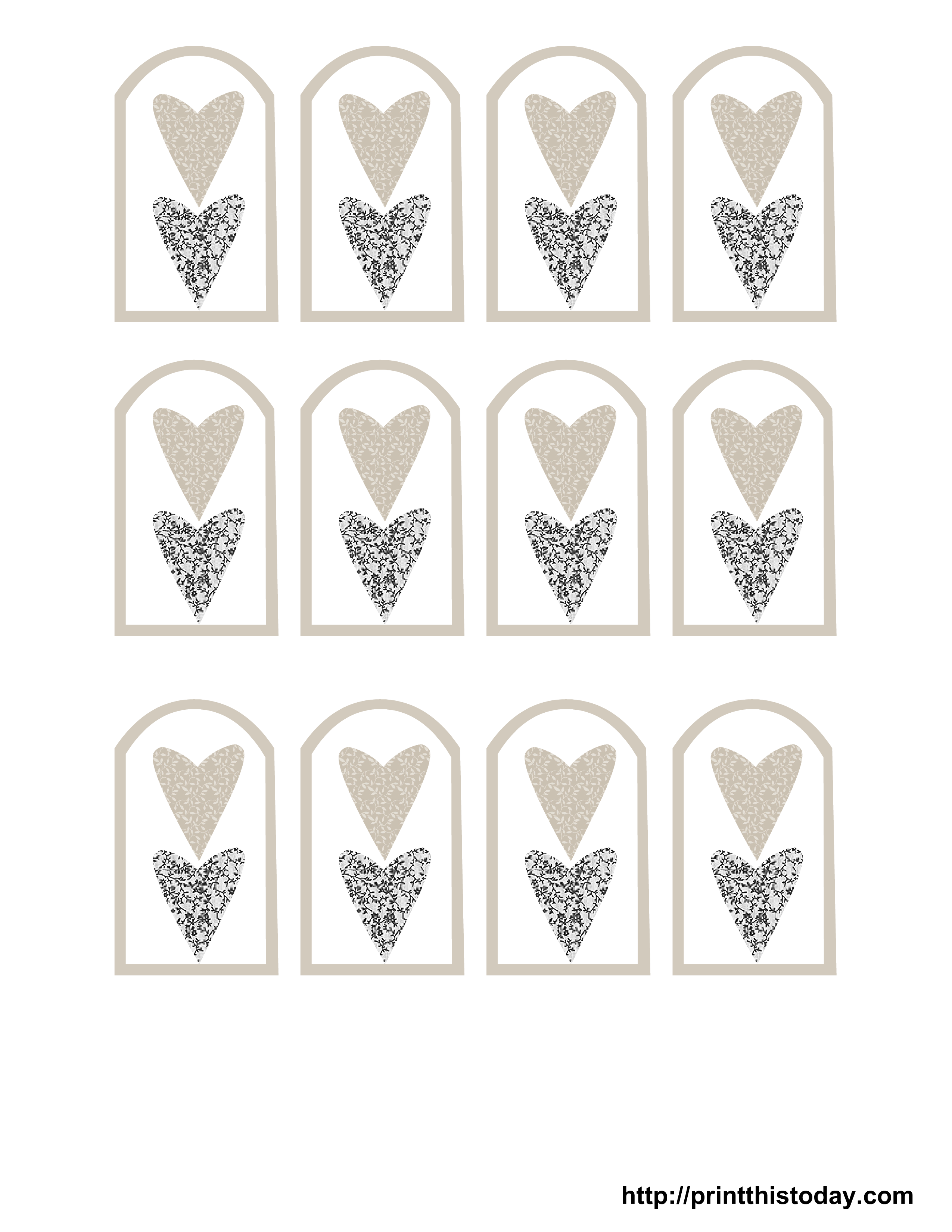 9 best images of printable wedding tags template free for Free printable gift tags templates