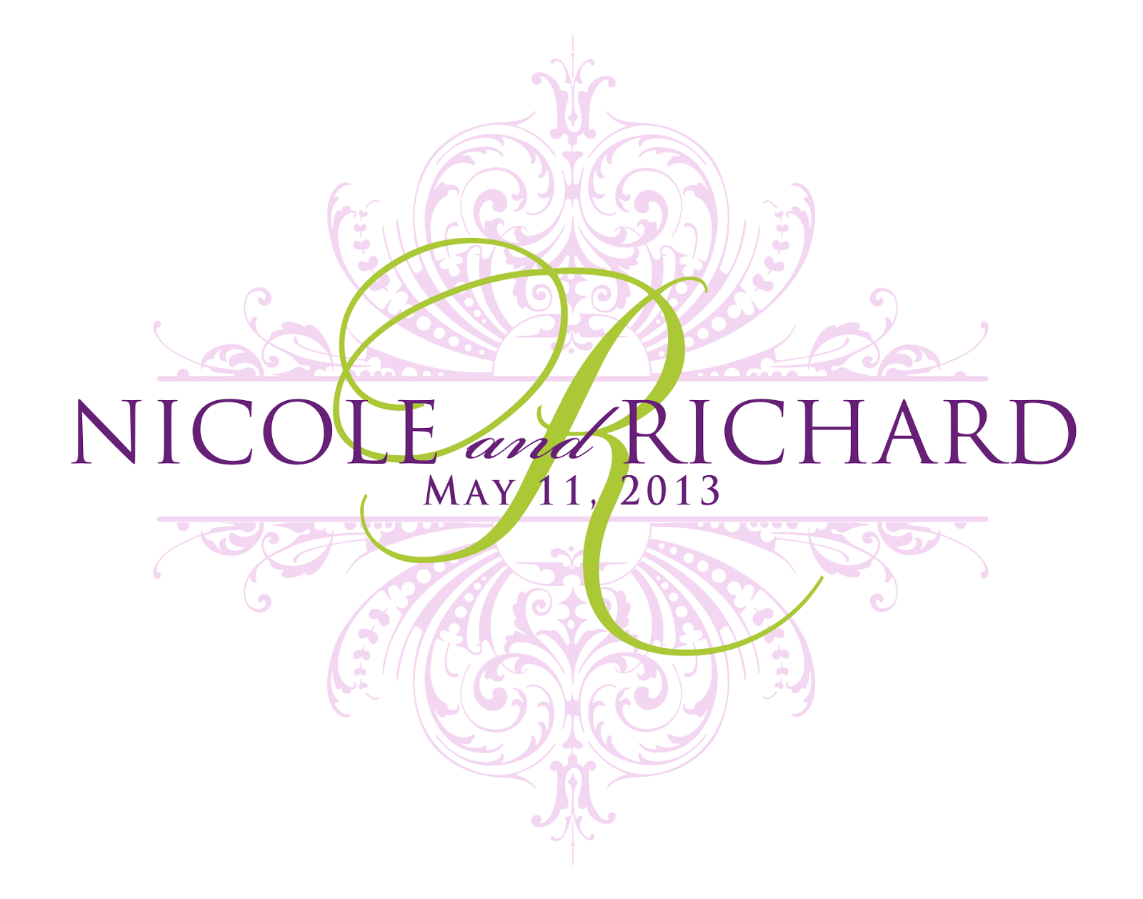 7 best images of free printable wedding monograms free for Free monogram template