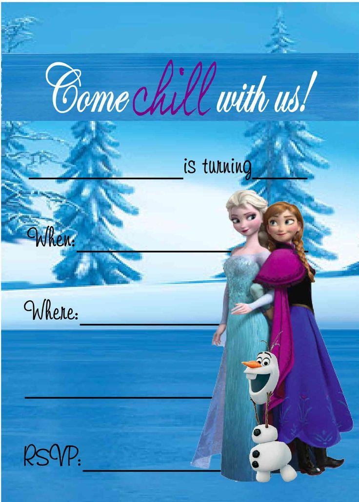 Frozen Birthday Party Invitations Free