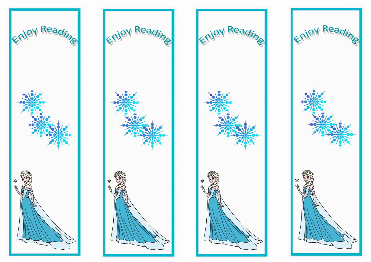 6 Images of Frozen Printable Bookmarks To Color