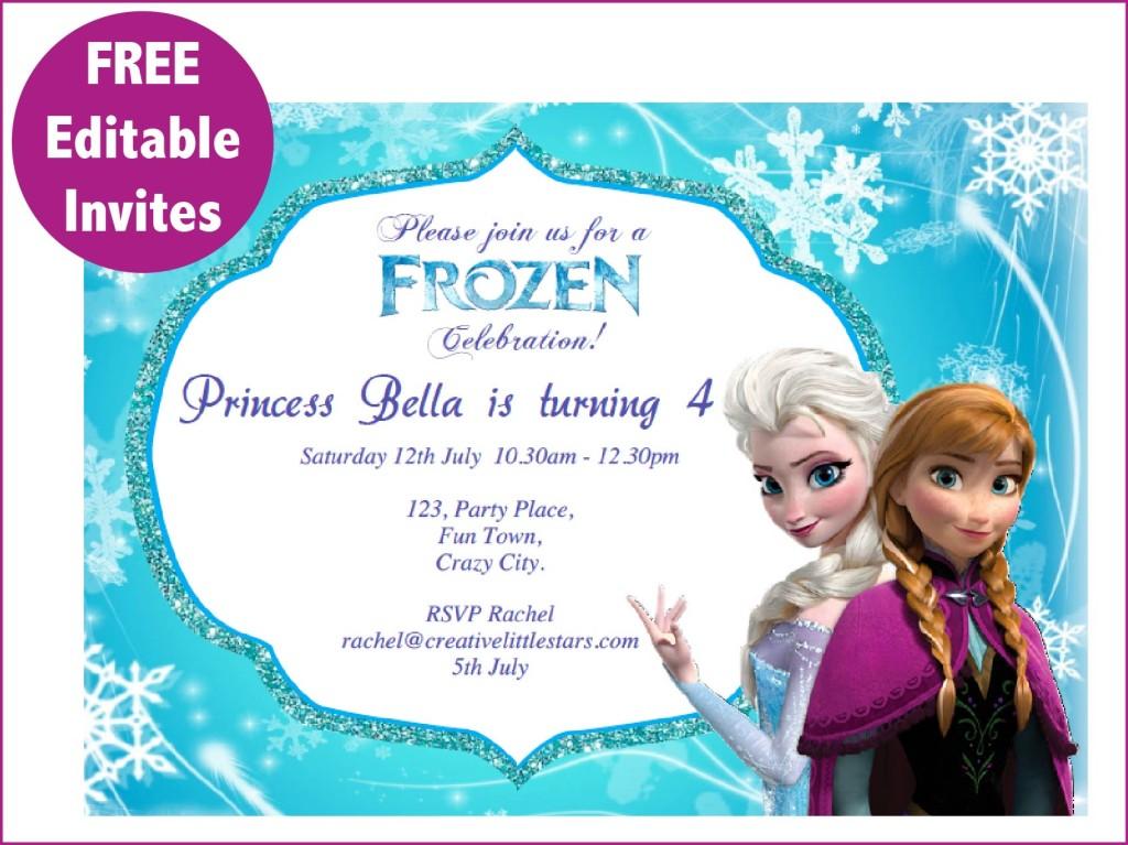 Frozen Free Printable Invitations Templates
