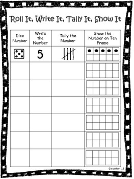 5 Images of Free Printable Roll And Write