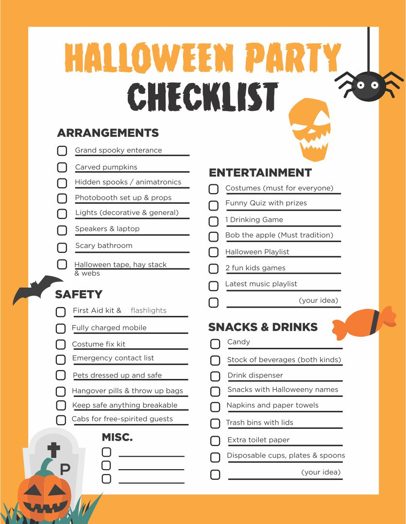 6 Images of Halloween Planner Free Printables