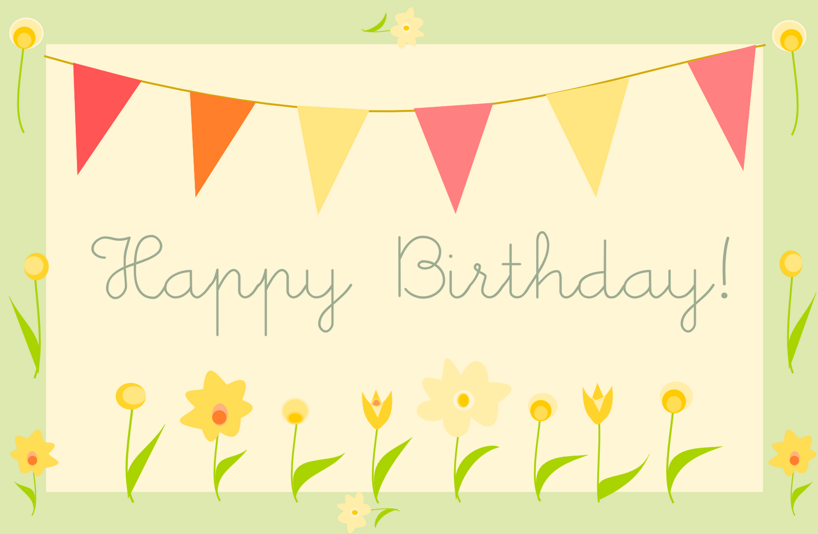 5 Images of Happy Birthday Greeting Cards Printable