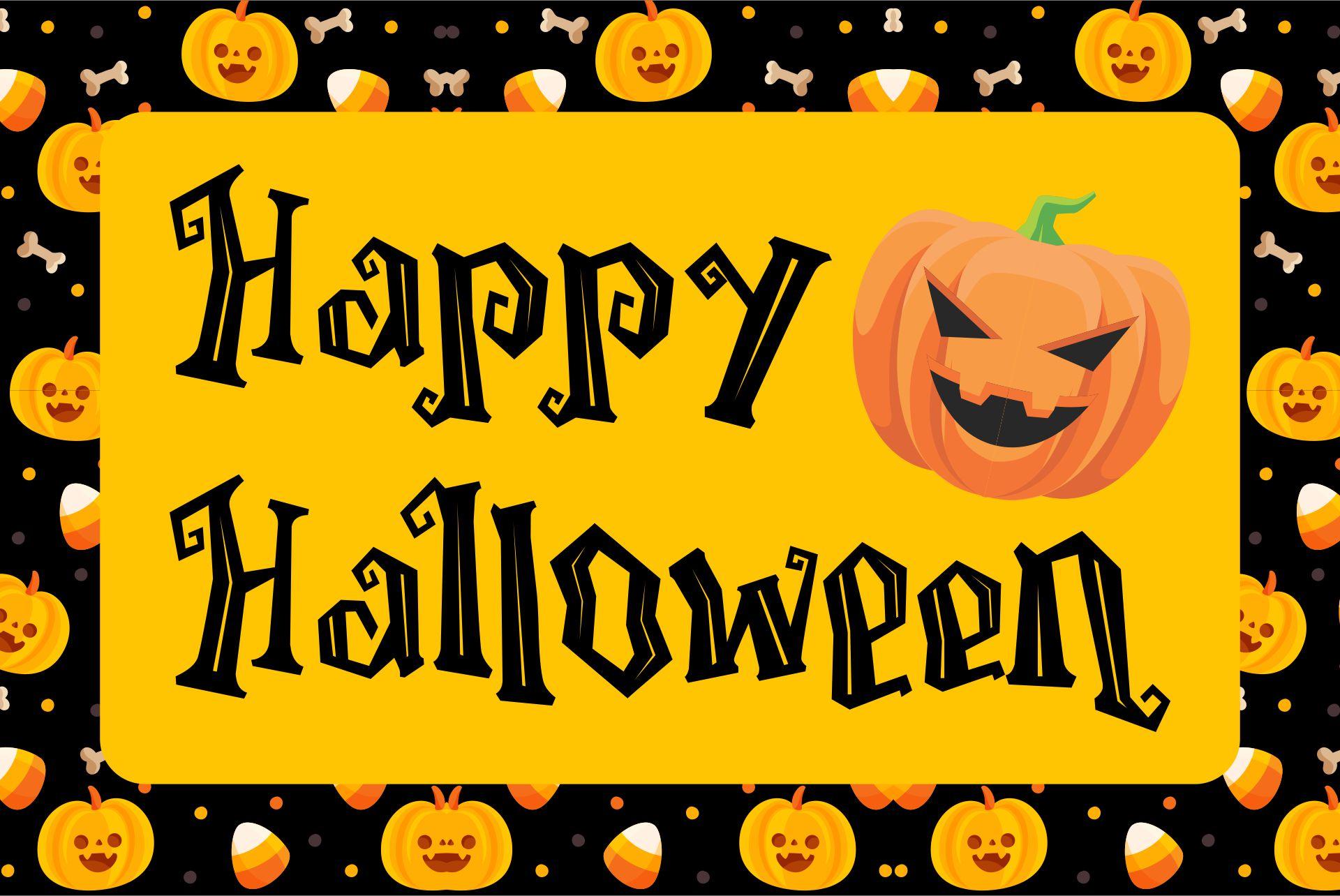Happy Halloween Signs Printable