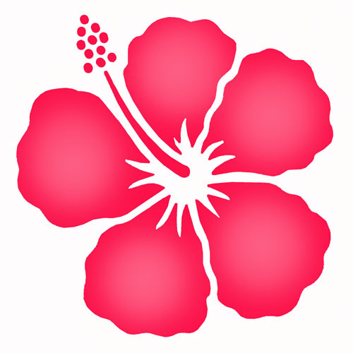 6 Images of Hawaiian Flower Stencils Printable