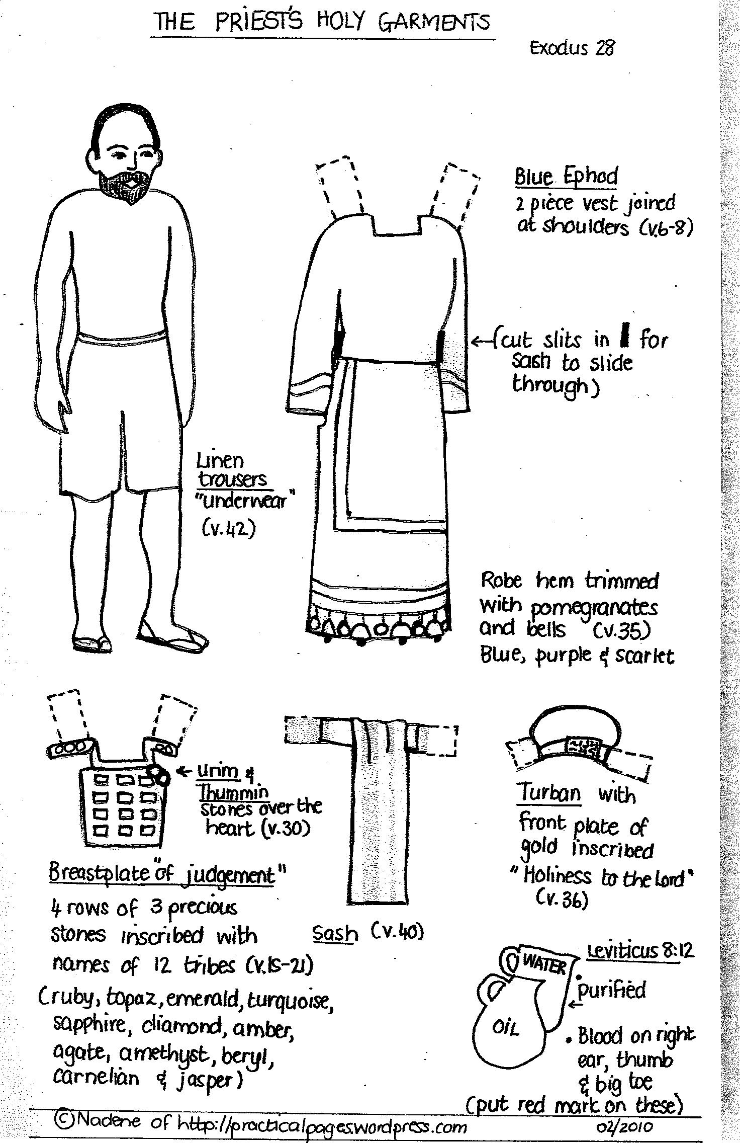 5 Images of Printable Bible Clothes