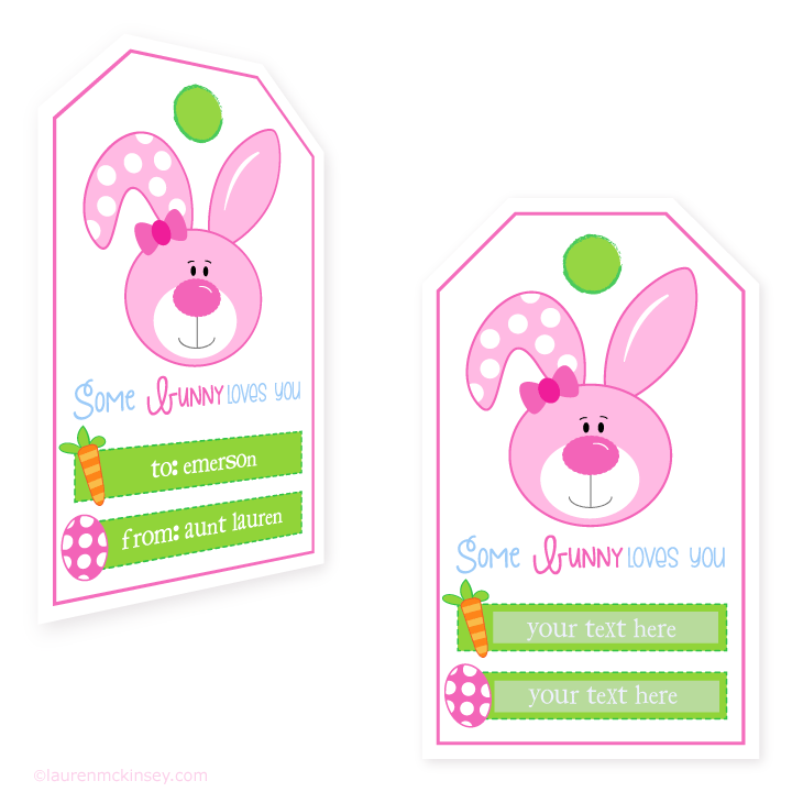 5 Images of Hoppy Easter Printable Tags