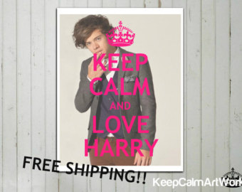 Keep Calm and Love One Direction Harry