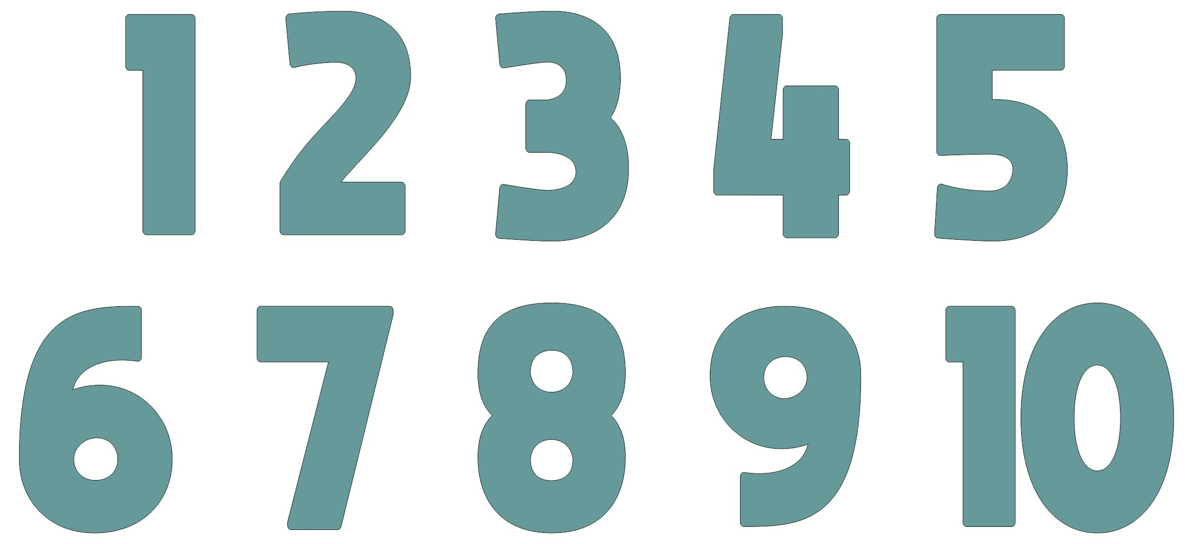 Large Printable Numbers 1 10