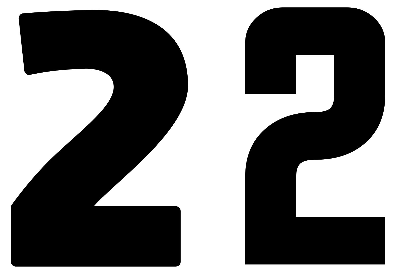 Large Printable Numbers Black 2