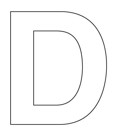 D Letter Templates To Cut Out