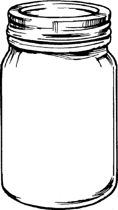 7 Images of Free Printable Mason Jar Outline